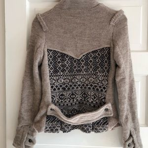 Free People sweater jacket size S